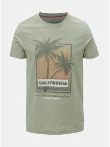 Svetlozelené slim fit tričko Jack & Jones Newpleo