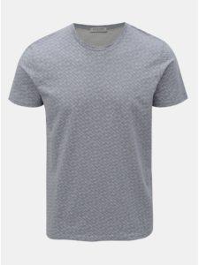 Svetlomodré vzorované tričko Selected Homme Kristian