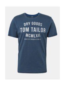 Modré pánske tričko s potlačou Tom Tailor