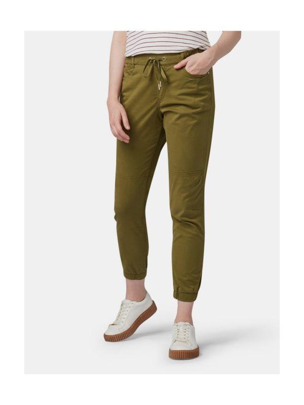 Kaki dámske skrátené nohavice Tom Tailor Denim