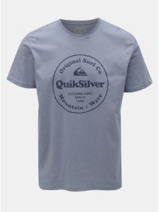 Svetlomodré regular fit tričko s potlačou Quiksilver
