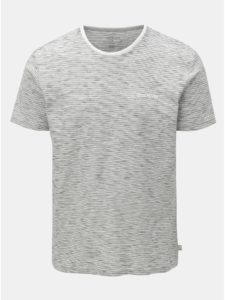 Svetlosivé pruhované modern fit tričko Quiksilver