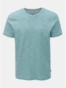 Svetlomodré pruhované modern fit tričko Quiksilver