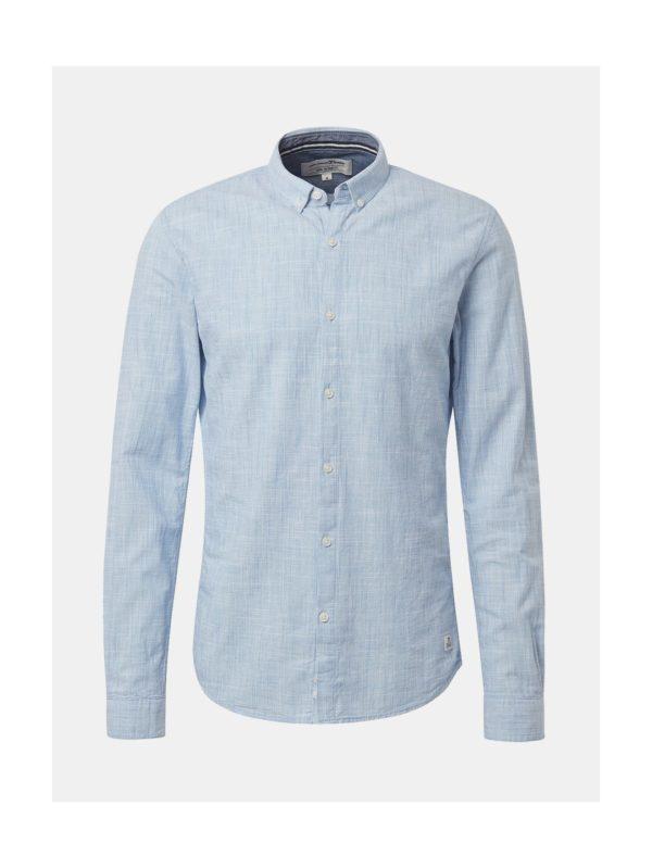 Svetlomodrá pánska melírovaná košeľa Tom Tailor Denim