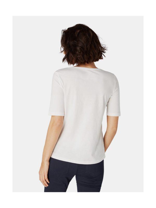 45257ecb5a98 Krémové dámske tričko s potlačou Tom Tailor