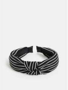 Čierna pruhovaná čelenka Pieces Fanilla
