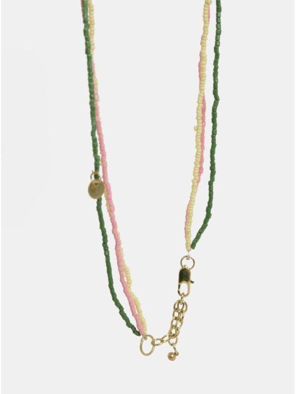 Červeno–zelený náhrdelník Pieces Benina