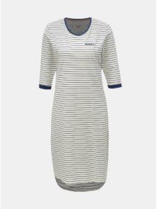 Biele pruhované šaty Brakeburn