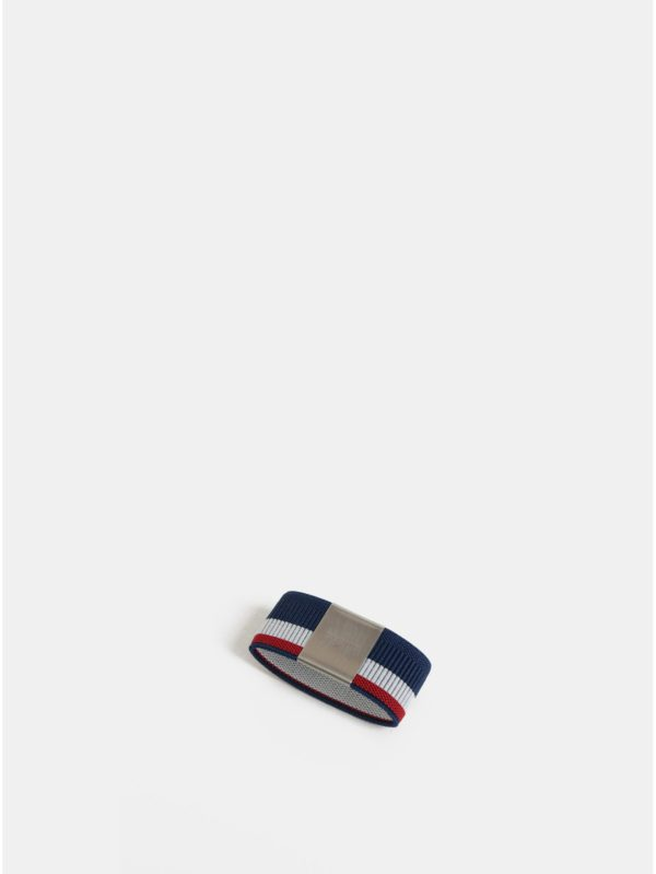 Tmavomodrá pruhovaná gumička na hliníkové puzdro Secrid