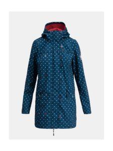 Tmavomodrý bodkovaný softshellový nepremokavý kabát Blutsgeschwister Wild Weather