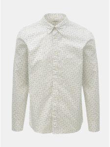 Biela vzorovaná slim fit košeľa Selected Homme Matt