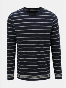 Tmavomodrý pruhovaný sveter Selected Homme Jack
