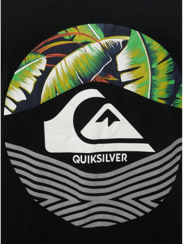 Čierne regular fit tielko s potlačou Quiksilver