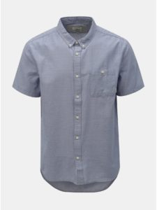 Svetlomodrá melírovaná modern fit košeľa Quiksilver