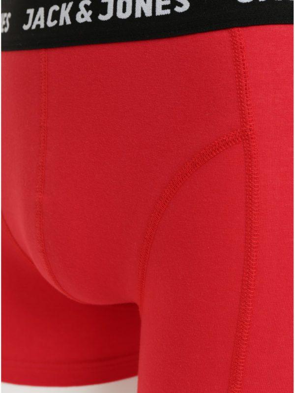 Balenie troch boxeriek v červenej a modrej farbe Jack & Jones Bear