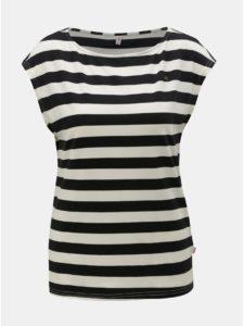 Bielo–čierne pruhované tričko Blutsgeschwister Logo Stripe