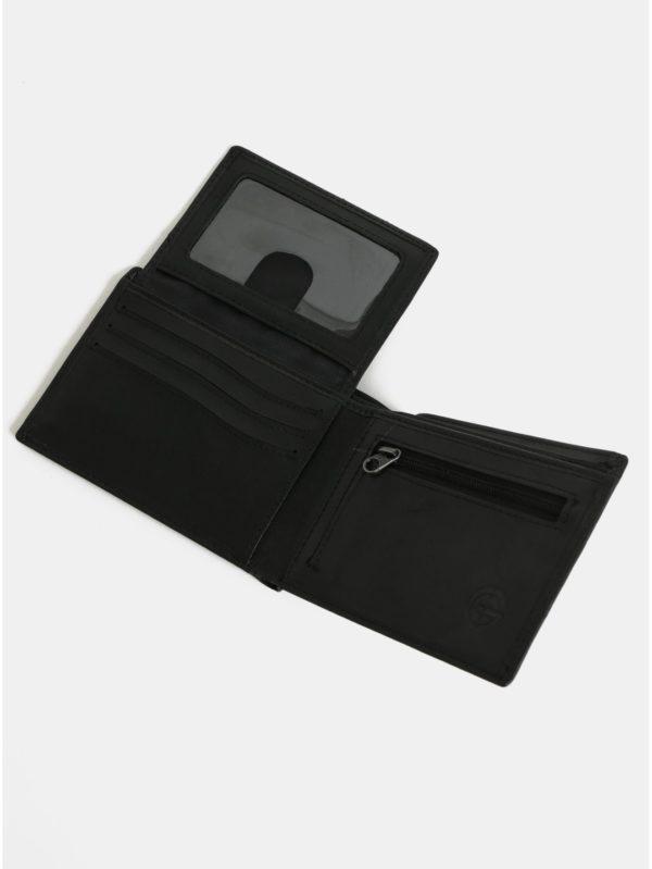 Čierna pánska kožená peňaženka NUGGET Attitute