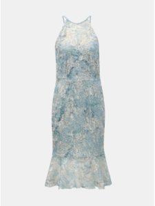 Svetlomodré čipkované šaty s volánom Paper Dolls