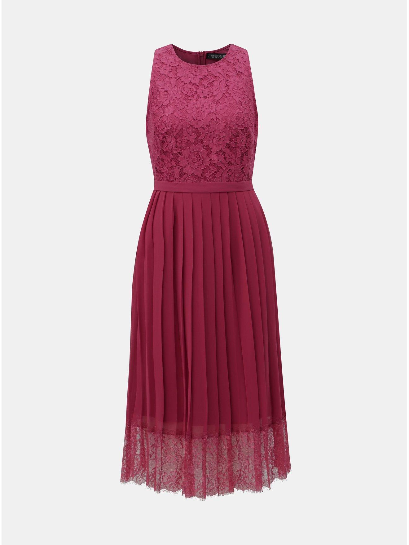 04d430849b50 Vínové šaty s čipkou Little Mistress