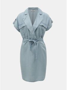 Svetlomodré rifľové košeľové šaty Noisy May Vera