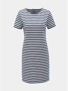 Bielo–modré pruhované šaty Cross Jeans