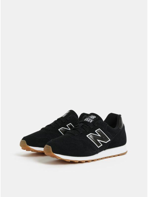 Čierne dámske semišové tenisky New Balance