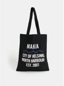 Čierna plátenná taška Makia Civil