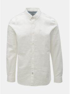 Biela pánska ľanová košeľa Tom Tailor