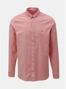 Ružová pánska slim fit košeľa Tommy Hilfiger