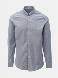 Modrá pánska slim fit košeľa Tommy Hilfiger
