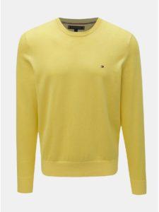 Žltý pánsky sveter s prímesou hodvábu Tommy Hilfiger