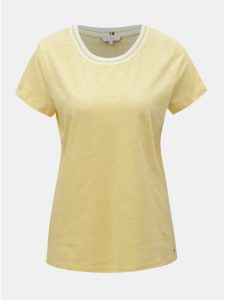 Žlté dámske ľanové tričko Tommy Hilfiger