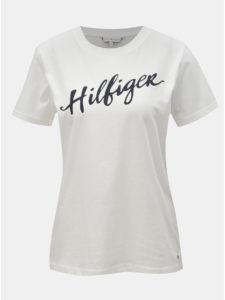 Biele dámske tričko s potlačou Tommy Hilfiger Viola