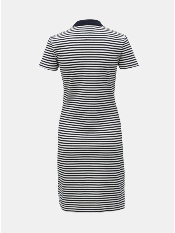 Bielo–modré pruhované slim fit šaty Tommy Hilfiger New Chiara