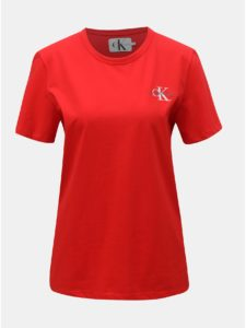 Červené dámske tričko Calvin Klein Jeans