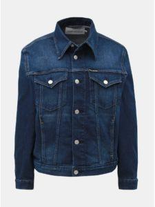 Tmavomodrá rifľová bunda Calvin Klein Jeans