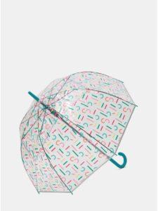 Transparentný vystreľovací dáždnik s potlačou Esprit