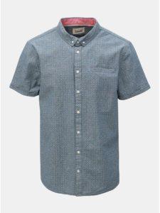 Modrá vzorovaná košeľa s vreckom Blend