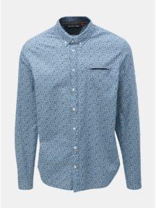 Svetlomodrá vzorovaná košeľa s vreckom Blend