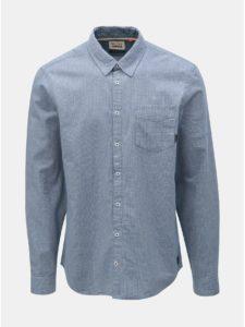 Modrá melírovaná košeľa s vreckom Blend