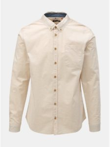 Béžová košeľa s vreckom Blend