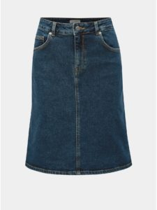 Tmavomodrá rifľová sukňa Selected Femme Freja