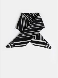 Bielo–čierna pruhovaná šatka Pieces Carol