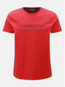 Červené tričko s potlačou Lindbergh