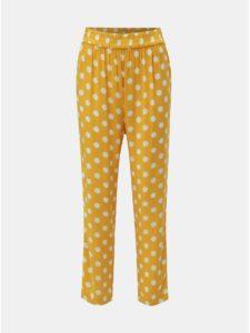 Žlté bodkované nohavice Jacqueline de Yong Star