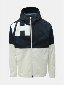 Modro–biela pánska nepremokavá tenká bunda HELLY HANSEN