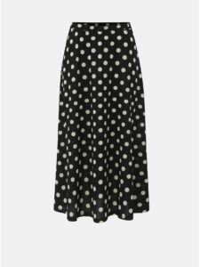 Čierna bodkovaná midisukňa Jacqueline de Yong Shilla