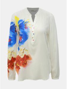 Biela kvetovaná blúzka Desigual Ibiscus