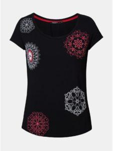 Čierne tričko s potlačou Desigual Sonja