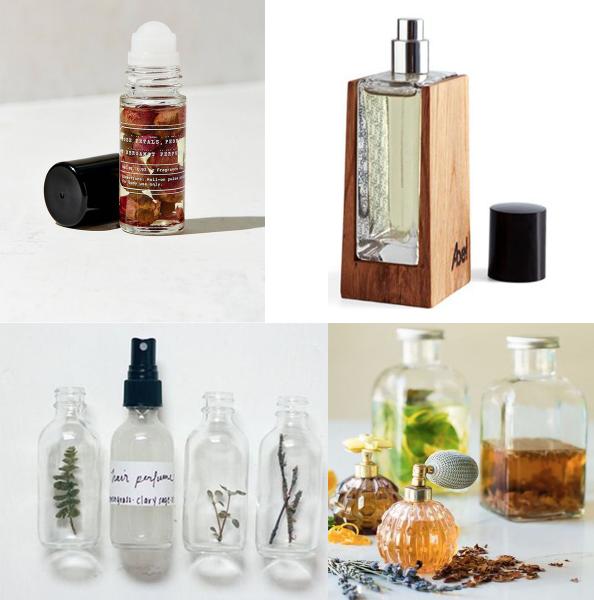 Ukážka rôznych druhov organických parfémov a olejov